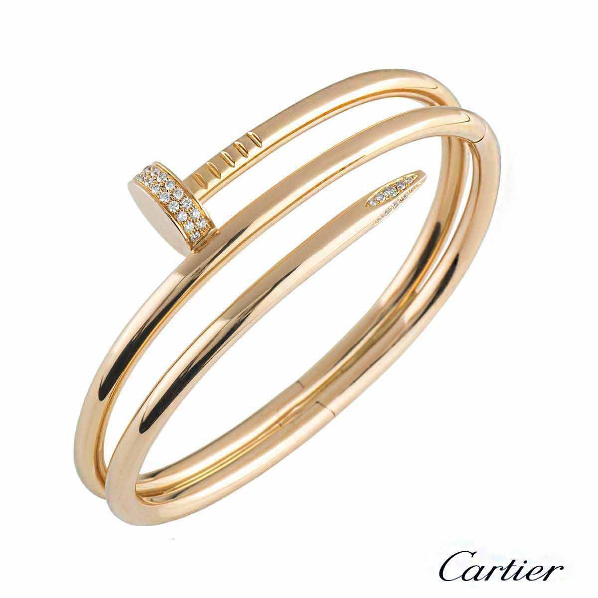 Cartier Juste Un Clou Diamond Bracelet Size 16 N6708416